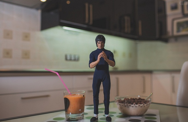 bruce lee prepara cafe da manha 7